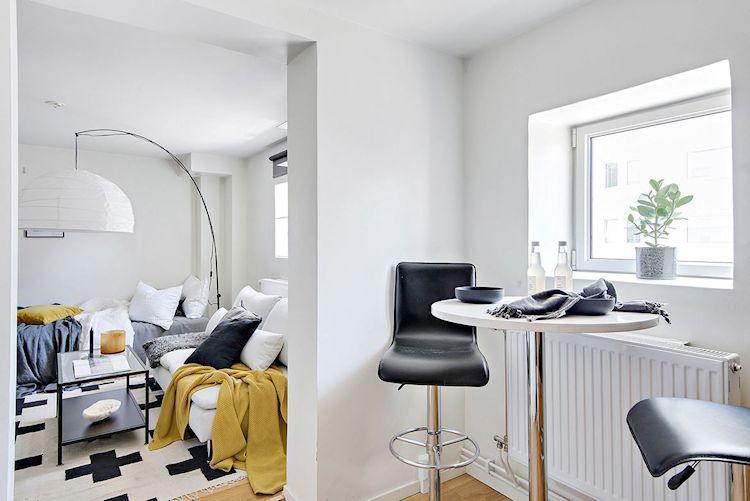 Decoración estudio departamento minimalista de 33 metros² 4