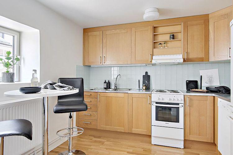 Decoración estudio departamento minimalista de 33 metros² 5
