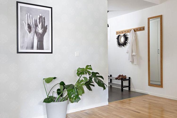 Decoración estudio departamento minimalista de 33 metros² 8