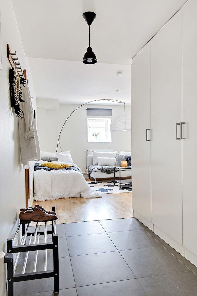 Decoración estudio departamento minimalista de 33 metros² 9