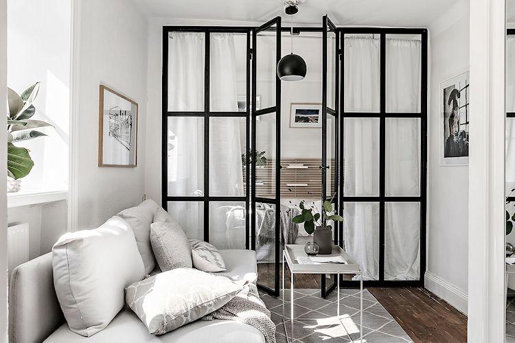Diseño compartimentado en un departamento pequeño 33 metros²
