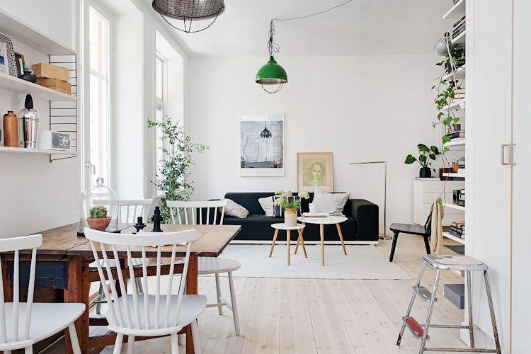 Estudio con decoración escandinava