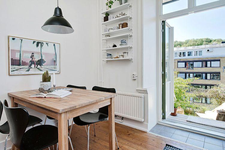 Espacios pequeños: estudio con decoración escandinava vintage 11