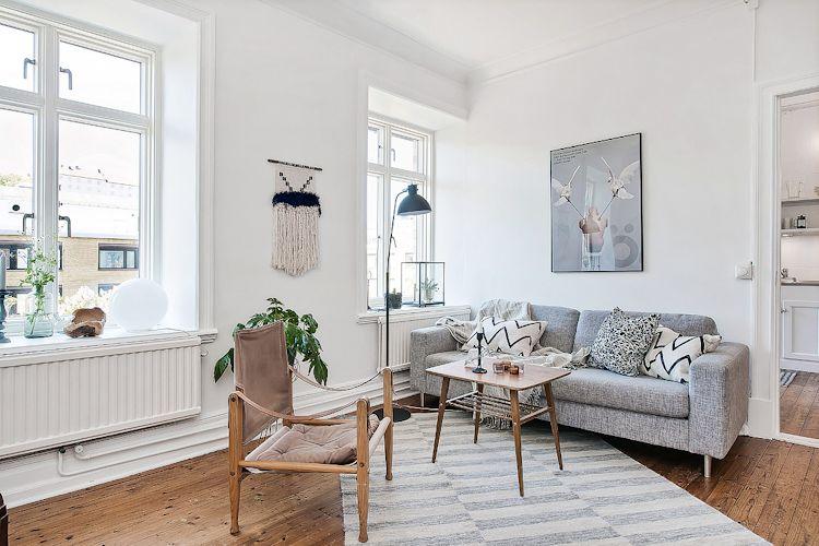 Espacios pequeños: estudio con decoración escandinava vintage 2