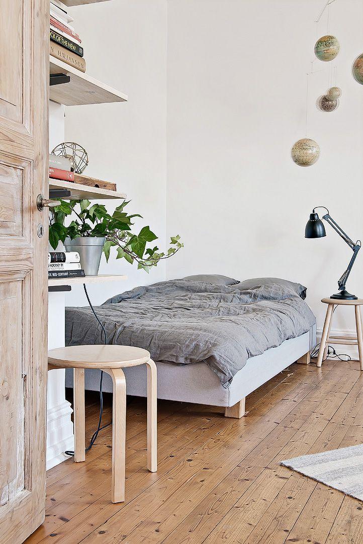 Espacios pequeños: estudio con decoración escandinava vintage 4