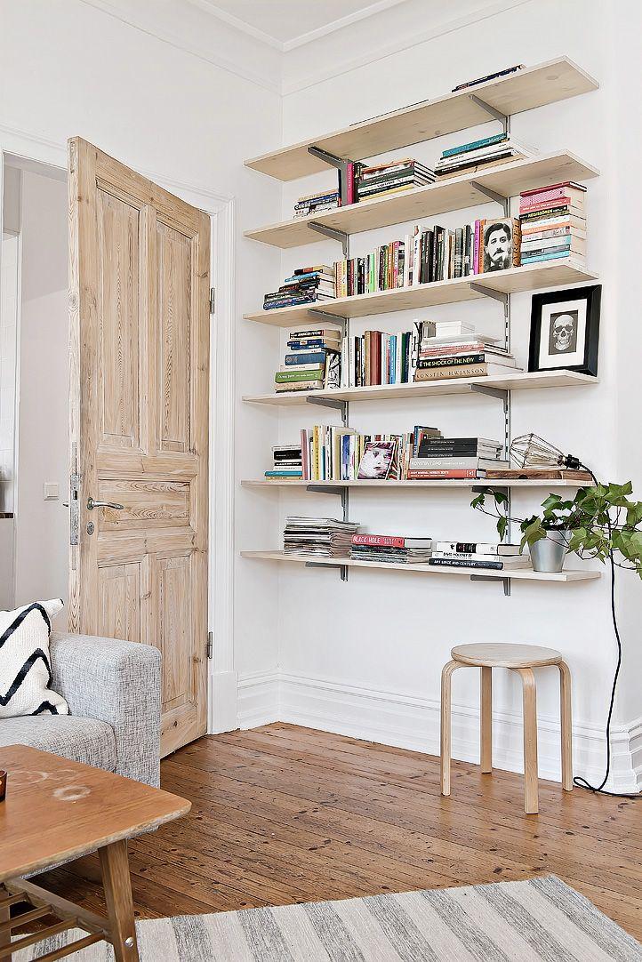 Espacios pequeños: estudio con decoración escandinava vintage 5