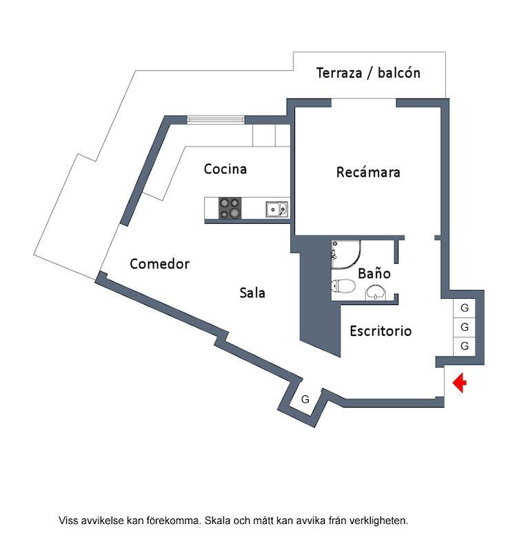 Plano del departamento