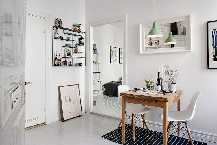 Estudios pequeños: estilo escandinavo y buena distribución en pocos metros