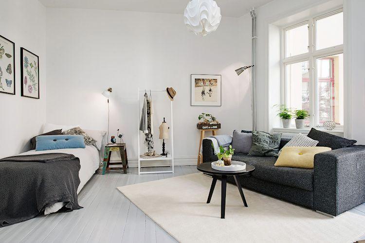 Decoración de salas pequeñas con pocos muebles