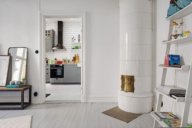 Pisos de madera pintados de blanco, una idea para renovar los pisos de forma económica