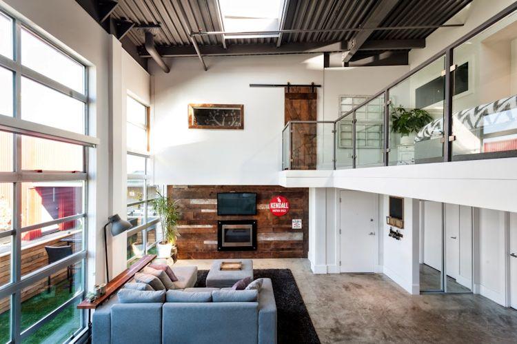 El diseño del loft incluye todos los elementos de estas clásicas construcciones pero los hace aptos para la vida familiar