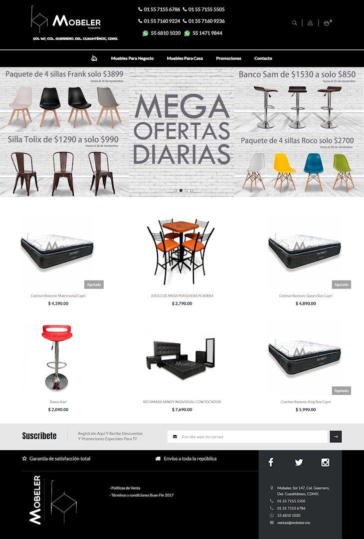 Tienda online de Mobeler: muebles para la casa y oficina