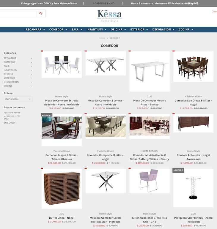 Tienda en línea de Këssa Muebles