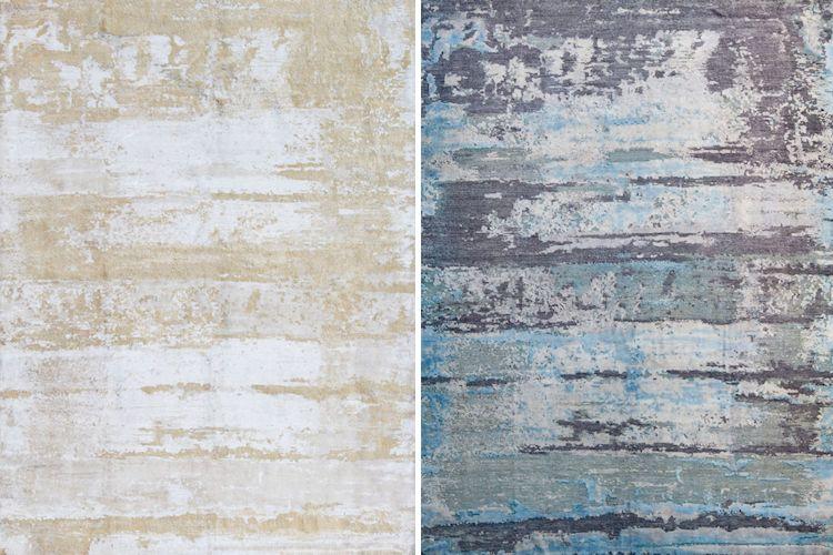 Bensire: tapetes de seda con diseños abstractos