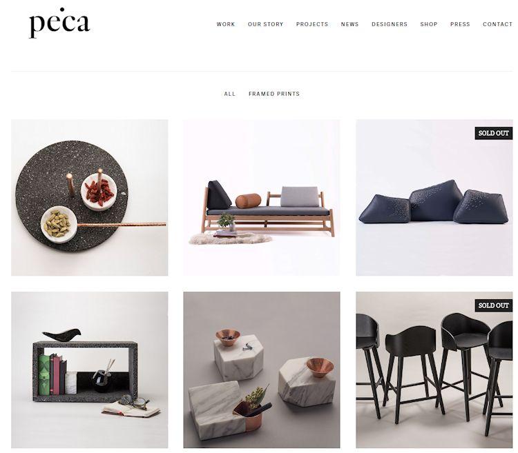 Tienda en línea de Peca Estudio: muebles, objetos y accesorios decorativos 1