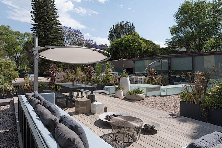 Muebles contemporáneos para patios, jardines, terrazas y espacios exteriores