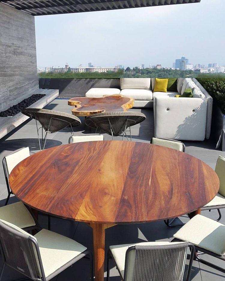 Parotas: muebles de interior y exterior fabricados en madera de Parota en CDMX 1